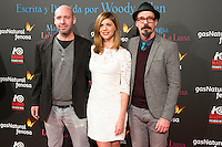 "Jaime Balaguero, Manuela Velasco and Fele Martinez attend the Premiere of the movie ""Magic in the Moonlight"" at callao Cinema in Madrid, Spain. December 2, 2014. (ALTERPHOTOS/Carlos Dafonte) /NortePhoto.com"