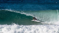 Kirra Point,  COOLANGATTA, Queensland/AUS (Thursday, March 15, 2018) - The first stop on the 2018 World Championship Tour (WCT), the Quiksilver and Roxy Pro Gold Coast, witnessed an incredible start to the season as Lakey Peterson (USA) and Julian Wilson (AUS) claimed victory today in extraordinary conditions at Kirra on the southern end of Gold Coast. <br /> <br /> Unpredictable performances and massive upsets shocked surfing&rsquo;s biggest stage at this year&rsquo;s season opener to remind the world that anything can happen on the Championship Tour. In addition to Peterson and Wilson taking the wins today, a new generation of surfers stepped up to showcase their progression, determination, and potential.  <br /> <br /> Photo: joliphotos.com