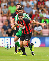 Lewis Cook of AFC Bournemouth holds the ball up during AFC Bournemouth vs Real Betis, Friendly Match Football at the Vitality Stadium on 3rd August 2018