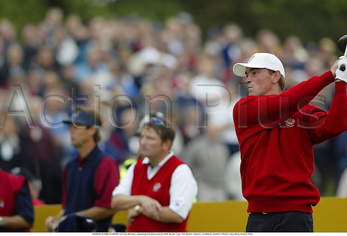 THOMAS BJORN (EUROPE) on the 4th tee, opening fourball match,34th Ryder Cup, The Belfry, Sutton Coldfield, 020927. Photo: Glyn Kirk/Action Plus....Golf golfer player 2002.........
