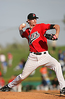April 18, 2010: Stephen Penney of the High Desert Mavericks during game against the Lake Elsinore Storm at Mavericks Stadium in Adelanto,CA.  Photo by Larry Goren/Four Seam Images