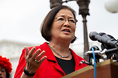 United States Senator Mazie Hirono (Democrat of Hawaii) was joined by several Democratic Senators and youth climate activists during a press conference on climate change outside the U.S. Capitol in Washington D.C., U.S. on September 17, 2019.<br /> <br /> Credit: Stefani Reynolds / CNP