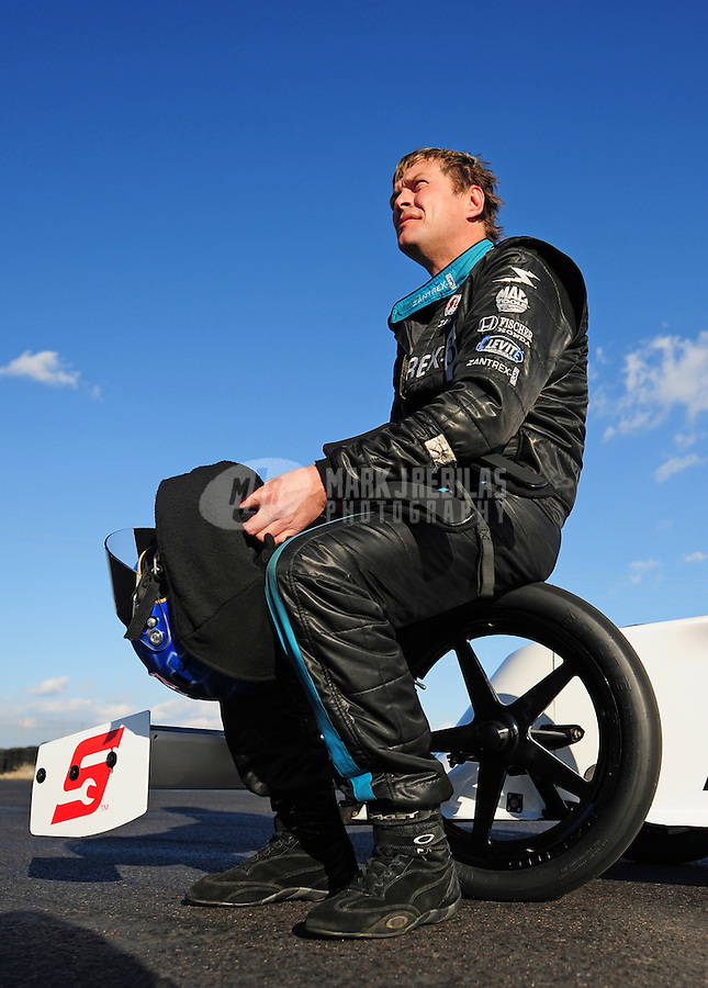 Jan 30, 2008; Chandler, AZ, USA; NHRA top fuel dragster driver David Grubnic during testing at the National Time Trials at Firebird International Raceway. Mandatory Credit: Mark J. Rebilas-US PRESSWIRE