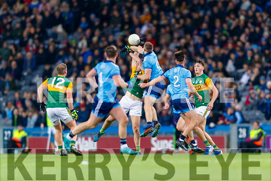 Liam Kearney, Kerry in action against John Small, Dublin during the Allianz Football League Division 1 Round 1 match between Dublin and Kerry at Croke Park on Saturday.