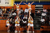 14 November 2008:  FIU cheerleaders fire up the crowd during the FIU 57-54 victory over Eastern Kentucky at FIU Arena in Miami, Florida.