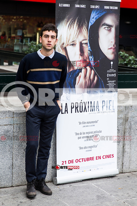 "Alex Monner during the premier of the film ""La proxima piel"" at Renoir Princesa Cinema in Madrid, Spain. October 18, 2016. (ALTERPHOTOS/Rodrigo Jimenez)"