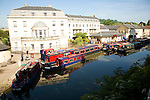 Narrow boats, Kennet and Avon canal, Bathwick, Bath