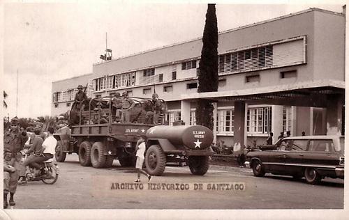 Soldados invasores procedentes de EEUU. Fuente: Archivo Histórico de Santiago.