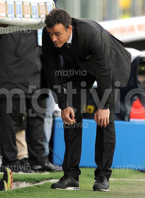 FUSSBALL INTERNATIONAL   SERIE A   SAISON 2011/2012    AC Florenz - AS Rom   04.12.2011 Trainer Luis Enrique (AS Rom)