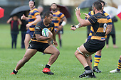 Sepu Taufa counter attacks back up field. Premier Counties Power Club Rugby Round 3, Counties Power Game of the Week, between Patumahoe and Bombay, played at Patumahoe on Saturday March 24th 2018. <br /> Photo by Richard Spranger.<br /> <br /> Patumahoe Counties Power Cup Holders won the game 26 - 23 after trailing 7 - 23 at halftime.<br /> Patumahoe 26 - Penalty try, Richard Taupaki, Theodore Solipo, Craig Jones tries; Riley Hohepa 2 conversions. <br /> Bombay 23 - Shaun Muir, Jordan Goldsmith, Liam Daniela, tries; Tim Cossens conversion; Tim Cossens 2 penalties.