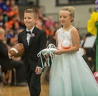 NWA Democrat-Gazette/ANTHONY REYES &bull; @NWATONYR<br /> Ava Putnam and Brayden Davis<br /> Images from the Rogers Heritage Homecoming rally Friday, Sept. 25, 2015 at the school in Rogers. The event including the introduction of the 2015 homecoming court, musical performances, dancing and a pep rally for a football game against Springdale.