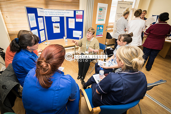 The Princess Alexandra Hospital, Harlow, Nursing & Midwifery Celebration Day - training and information, UK. Clinical Support Staff stall