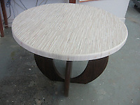 "48"" Tatami table top in creams honed and pillowed"