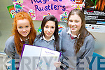Pictured at the Student Enterprise Awards day at Tralee IT on Wednesday were students from ISK Killorglin, who set up Rugrat Rustlers a Babysitting service from left Emma Griffin, Eva Cronin and Eimear O'Sullivan.