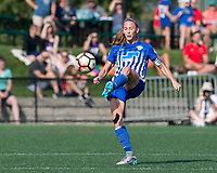 Boston, MA - Saturday August 19, 2017: Julie King during a regular season National Women's Soccer League (NWSL) match between the Boston Breakers (blue) and the Orlando Pride (white/light blue) at Jordan Field. Orlando Pride defeated Boston Breakers, 2-1.