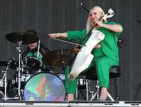 Clean Bandit on stage at BBC Radio 2 Live in Hyde Park event, Hyde Park, London on Sunday September 15th 2019<br /> <br /> Photo by Keith Mayhew