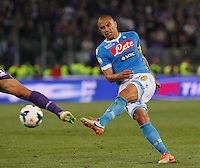 Gokhan Inler   during the the Italian Cup final soccer match between Napoli and  Fiorentina at the Olympic stadium in Rome May 3, 2014