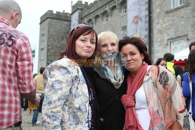 Carol McGee, Victoria Barrett and Jeannette Bissette at Slane Concert 2011...(Photo credit should read Jenny Matthews www.newsfile.ie)....This Picture has been sent you under the conditions enclosed by:.Newsfile Ltd..The Studio,.Millmount Abbey,.Drogheda,.Co Meath..Ireland..Tel: +353(0)41-9871240.Fax: +353(0)41-9871260.GSM: +353(0)86-2500958.email: pictures@newsfile.ie.www.newsfile.ie.