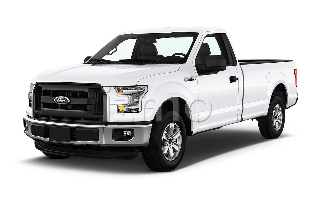2016 Ford F 150 XL 2 Door Pickup Angular Front stock photos of front three quarter view