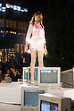"October 20, 2012, Tokyo, Japan - A picture made available on October 21 shows a model on stage wearing ""Jenny Fax"" during Mercedes-Benz Fashion Week Tokyo 2013 Spring/Summer. (Photo by Christopher Jue/Nippon News)"