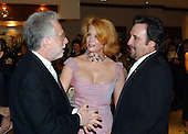 "CNN Correspondent Wolf Blitzer, Catherine ""Kate"" de Castelbajack, and Actor Ron Silver share some thoughts prior to the 2003 White House Correspondents Dinner at the Washington Hilton Hotel in Washington, DC, April 26, 2003..Credit: Ron Sachs / CNP"