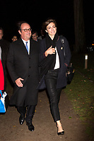 François Hollande & Julie Gayet attend the ' Georgia ' musical show - France