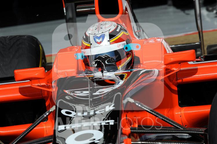 13.02.2011, Circuit de Catalunya, Barcelona, ESP, Formel 1 Test 3 2011,  im Bild Jerome De Ambrosio (BEL) Marussia Virgin Racing Team Foto © nph / Dieter Mathis