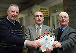Christopher Doggett, Seamus Reilly and Patrick Smith, Drogheda Senior Citizens Committee Members with leaflets about the services they provide...(Photo credit should read Jenny Matthews/www.newsfile.ie)....This Picture has been sent you under the conditions enclosed by:.Newsfile Ltd..The Studio,.Millmount Abbey,.Drogheda,.Co Meath..Ireland..Tel: +353(0)41-9871240.Fax: +353(0)41-9871260.GSM: +353(0)86-2500958.email: pictures@newsfile.ie.www.newsfile.ie.