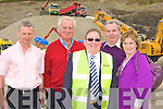 Tom Quirke, John Carey, Liam O'Neill, Sean and Patricia Quinn at the Sandvik machinery display in Quirkes Quarry Killarney on Saturday   .