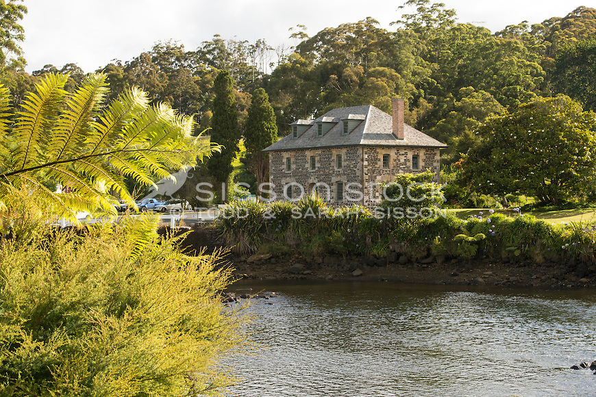 Historic Stone Store at Kerikeri, Bay of Islands, New Zealand - stock photo, canvas, fine art print