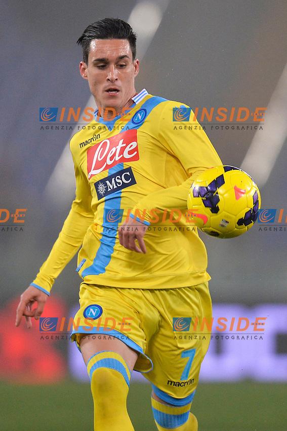 Jose Maria Callejon Napoli <br /> Roma 05-02-2014 Stadio Olimpico - Football Calcio Coppa Italia 2013/2014 AS Roma - Napoli Foto Andrea Staccioli / Insidefoto