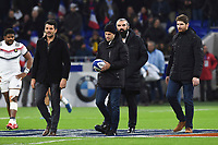 Fabrice Estebanez, Frederic Michalak, Sebastien Chabal and Pascal Pape during the rugby test match between France and New Zealand at Stade des Lumieres on November 14, 2017 in Lyon, France. (Photo by Alexandre Dimou/Icon Sport)