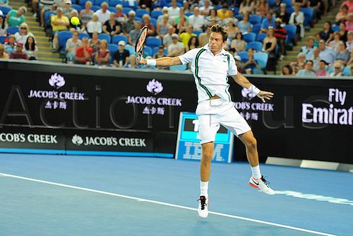 22.01.2016. Melbourne Park, Melbourne, Australia, Australian Open Tennis Championships.  Nicolas Mahut (FRA)