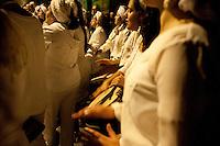 SAO PAULO, SP, 13.05.2015 - ABOLIÇÃO-SP Para marcar o dia 13 de maio como um manifesto contra a falsa abolição da escravatura, a associação Ilú Obá de Min percorre as escadarias e a rua 13 de Maio, lavando e cantando no bairro do Bixiga, nessa quarta-feira 13 . ( Foto: Gabriel Soares/ Brazil Photo Press)