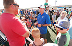 _W1_8491<br /> <br /> The BYU Football Team holds a public practice and Fan Fest at Dixie High School in St. George, Utah.<br /> <br /> 2017 BYU Football - Spring Practice March 17, 2017<br /> <br /> March 17, 2017<br /> <br /> Photo by Jaren Wilkey/BYU<br /> <br /> &copy; BYU PHOTO 2017<br /> All Rights Reserved<br /> photo@byu.edu  (801)422-7322