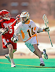 19 March 2011: University of Vermont Catamount Midfielder Thomas Galvin, a Sophomore from Cockeysville, MD, in action against the St. John's University Red Storm at Moulton Winder Field in Burlington, Vermont. The Catamounts defeated the visiting Red Storm 14-9. Mandatory Credit: Ed Wolfstein Photo
