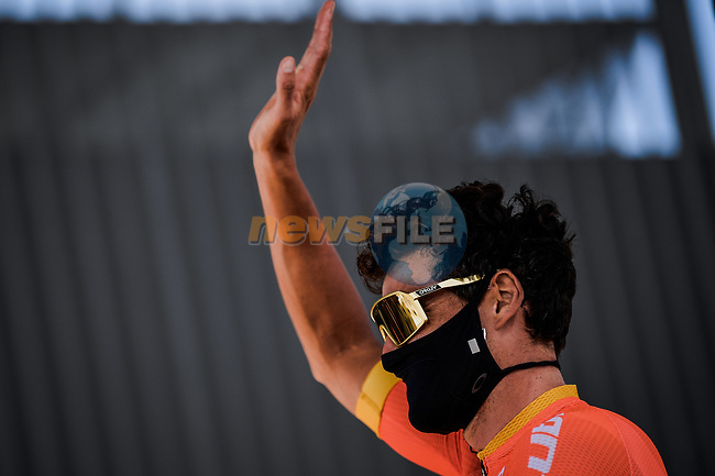 Olympic Champion Greg Van Avermaet (BEL) CCC Team at sign on before the start of Stage 3 of Tour de France 2020, running 198km from Nice to Sisteron, France. 31st August 2020.<br /> Picture: ASO/Pauline Ballet | Cyclefile<br /> All photos usage must carry mandatory copyright credit (© Cyclefile | ASO/Pauline Ballet)