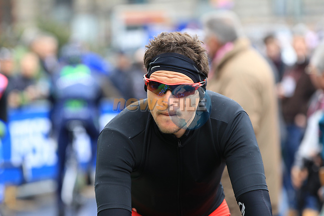 Greg Van Avermaet (BEL) BMC Racing Team at the sign on before the start of the 104th edition of the Milan-San Remo cycle race at Castello Sforzesco in Milan, 17th March 2013 (Photo by Eoin Clarke 2013)