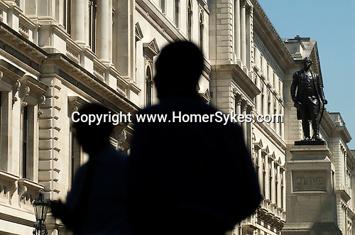 Civil Servants outside The Foreign Office King Charles Street Whitehall London UK