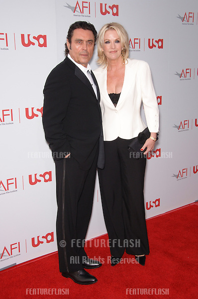 Actor IAN McSHANE & wife at the 34th AFI Life Achievement Award Gala in Hollywood..June 8, 2006  Los Angeles, CA.© 2006 Paul Smith / Featureflash