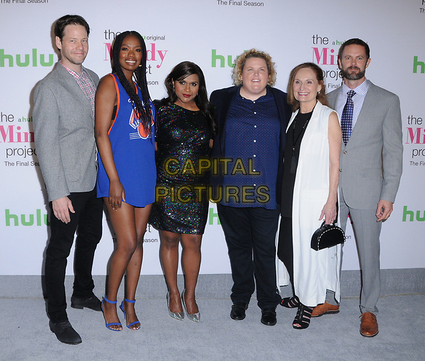 12 September  2017 - West Hollywood, California - Ike Barinholtz, Xosha Roquemore, Mindy Kaling, Fortune Feimster, Beth Grant, Garret Dillahunt. &quot;The Mindy Project&quot; Final Season Premiere Party held at Microsoft Theatre L.A. Live in West Hollywood. <br /> CAP/ADM/BT<br /> &copy;BT/ADM/Capital Pictures