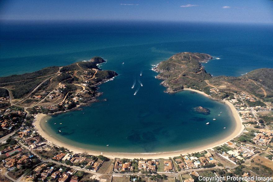 Praia da Ferradura ( Ferradura beach / Horseshoe beach ). City: Armação de Búzios, State: Rio de Janeiro, Brazil. Rich houses.