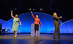 Yvette Richards, Harriett Olson and Meghan Waddle greet participants at the opening of the United Methodist Women Assembly at the Kentucky International Convention Center in Louisville, Kentucky, on April 25, 2014.