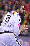 VELUX EHF 2017/18 EHF Men's Champions League Group Phase - Round 11.<br /> FC Barcelona Lassa vs HC Vardar: 29-28.<br /> Jorge Maqueda.