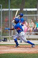 New York Mets John Mora (4) during a minor league Spring Training game against the St. Louis Cardinals on March 31, 2016 at Roger Dean Sports Complex in Jupiter, Florida.  (Mike Janes/Four Seam Images)