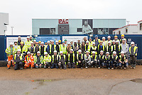 Kier staff and contractors at the University of Lincoln Engineering Hub