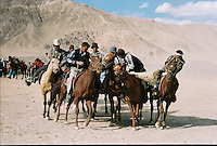 9 September 2001, a Ulaq or Buzkashi in the honour of the 10 years of Tadzhik Independency from Soviet Union, in Murghob on the M41 highway..The M41 Highway from the Ismaili capital of Khorog to the south capital of Kyrgyzstan - Osh, via the head district of Badakhshan - Murgab and the Akbajtal Pass at 4655 meters.