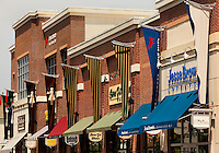 The shops of Ballantyne Village are located within the community of Ballantyne, a suburb of Charlotte NC located near the South Carolina border. The 2,000-acre mixed-use development was created by land developer Howard C. Smokey Bissell.