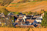 France, Cher (18), région du Sancerrois, Sancerre, village de Chavignol et son vignoble en automne // France, Cher, Sancerrois region, Sancerre, Chavignol village and the vineyard fall