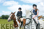 Enjoying the Blennerville Pony Show on Sunday were Rebecca Barry with  blossom,  Niamh O'Carroll with Cally